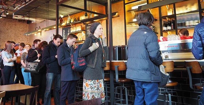 coffee shop queue
